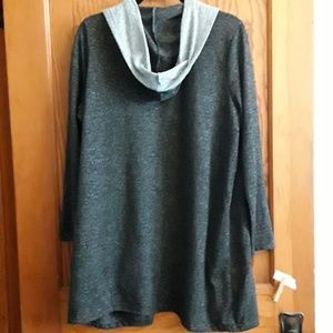 Absolutely Famous Sweaters - Slouchy open front cardigan, Sz 1X